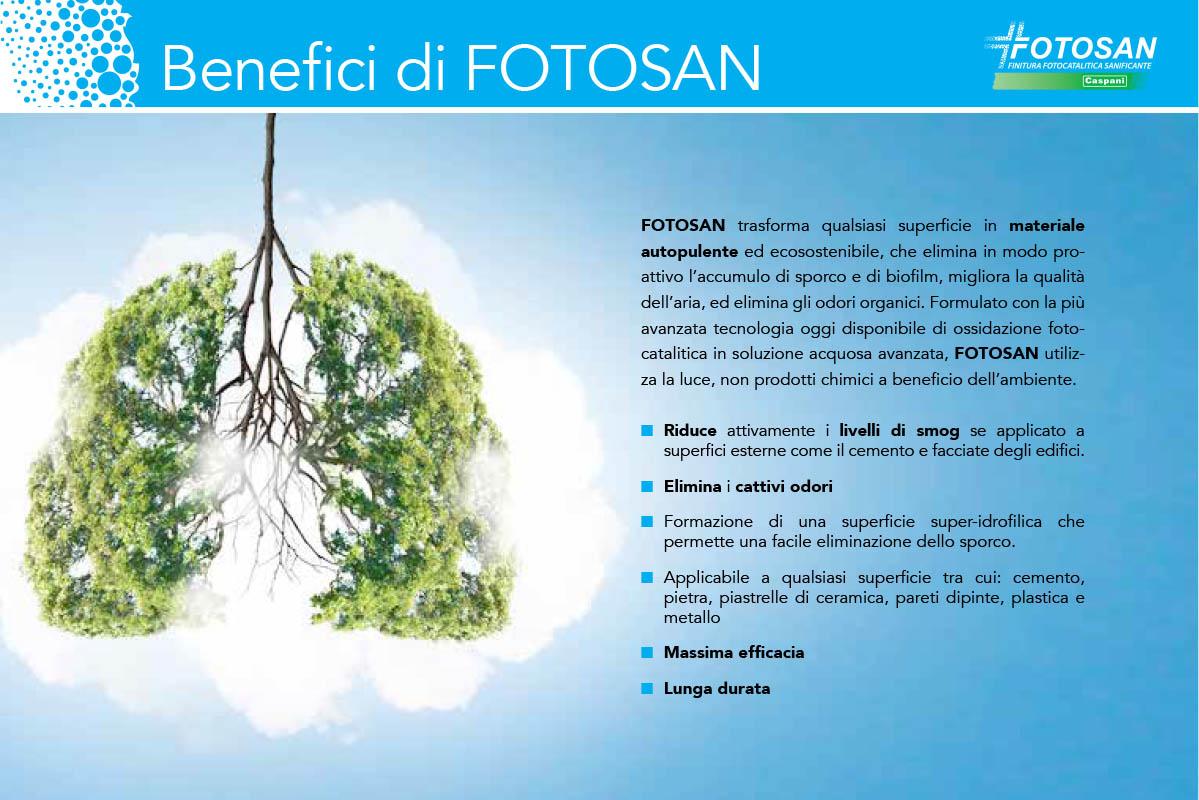 FOTOSAN trasforma qualsiasi superficie in materiale autopulente ed ecosostenibile